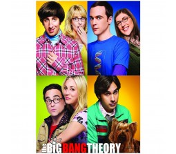 Big Bang Theory Four Couples Poster by  Happy GiftMart Licensed by WB