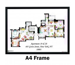 Friends Apartment TV Series Poster by Happy GiftMart  Licensed by WB