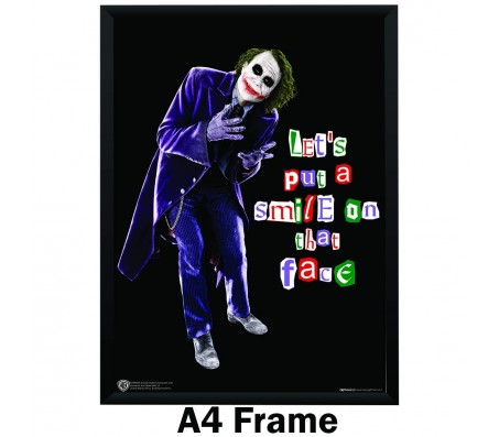 Joker Lets Put Smile on That Face Quote Poster by Happy GiftMArt Licensed by WB