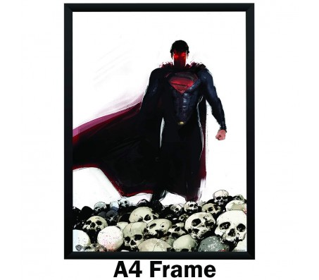 Superman Art with Skull Poster Poster by Happy GiftMart Licensed by WB