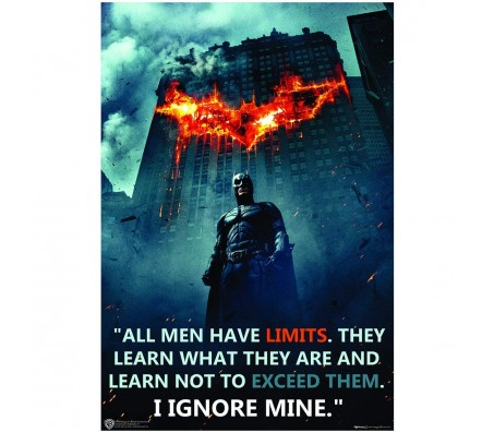 Batman All Men Have Limits Inspirational Motivational Quote Poster by Happy GiftMart Licensed by WB