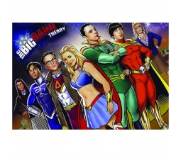 Bigbang Theory Super Hero Poster by Happy GiftMart Licensed by WB