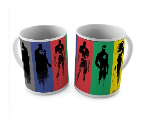Justice League Minimal Coffee Mug by Happy GiftMart Licensed By WB