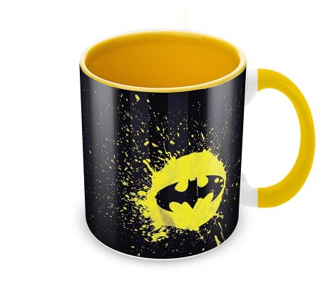 Batman Logo Splash Coffee Mug Birthday Gift Idea Licensed By WB