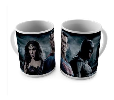 1 Mug of Batman V Superman Wonder Woman Coffee Mug Birthday Gift Idea Licensed By WB