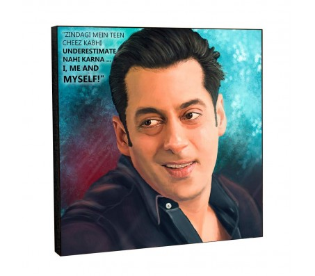 Salman Khan Motivational Inpirational Quote 2 Pop Art Wooden Frame Poster