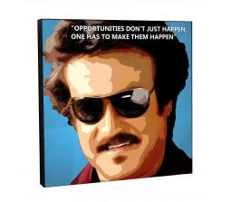 Rajnikanth Motivational Inpirational Quote Pop Art Wooden Frame Poster