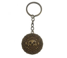 Pirates Of The Caribbean Aztec Skull Keychain