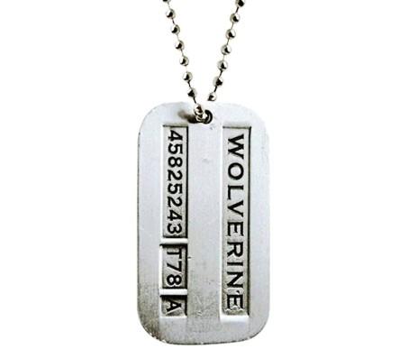 Men's Hugh Jackman X-Men Wolverine Logan Inspired Pendant Necklace (Silver)