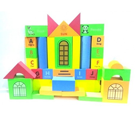 93 Pieces of Foam Blocks with Alphabets Numbers Math Animal Toy for Infant  and Toddlers