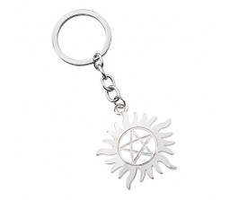 Supernatural Devil's Trap Pentagram Pentacle Star Keychain