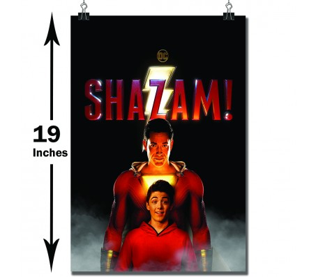 Shazam The Superhero and Billy Batson Standing Movie Poster Officially Licensed by Warner Bros