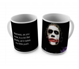 Happy GiftMart Joker Quote - Madness As You Know, is A Lot Like Gravity, All It Takes is A Little Push White Ceramic Coffee/Tea Mug Quantity 1