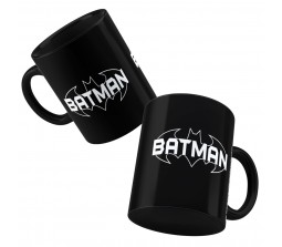Happy GiftMart Batman Logo Black Ceramic Coffee Mug Quantity 1