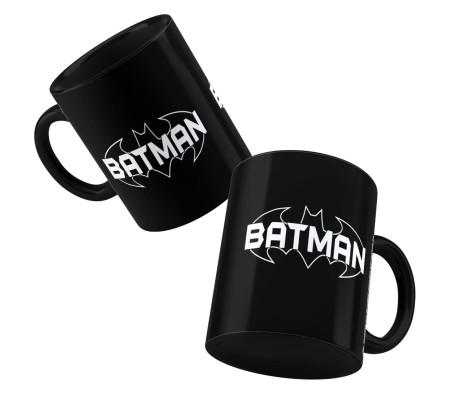 Happy GiftMart Batman Logo Black Ceramic Coffee Mug Quantity 1