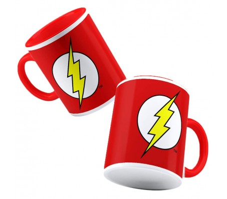 Flash Lightning Logo Coffee Mug Cup Qty 1 Official Licensed by Warner Bros