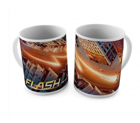 Flash Lightning The City White Ceramic Coffee Mug Quantity 1
