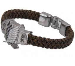 Attack on Titan Silver and Brown Shingeki No Kyojin Cosplay Bracelet