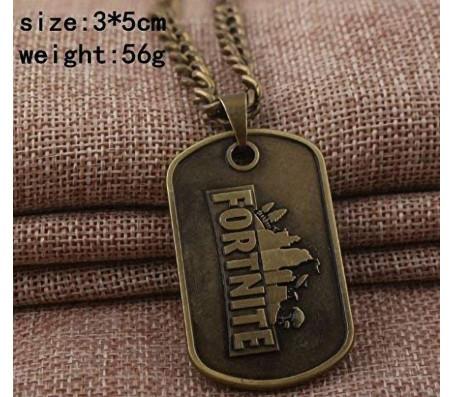 Fortnite Game Pendant Necklace Brass Alloy Pendant