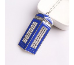 Big Size Doctor Who Tardis Pendant Necklace Brass Pendant
