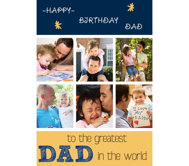 Personalized Collage Happy Birthday To The Best Father Greeting Card