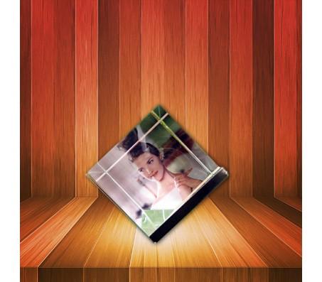 Crystal Cube Photo Frame [3 Photos]