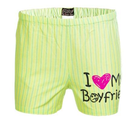 I Love My Boyfriend Funny Slogan Boxer