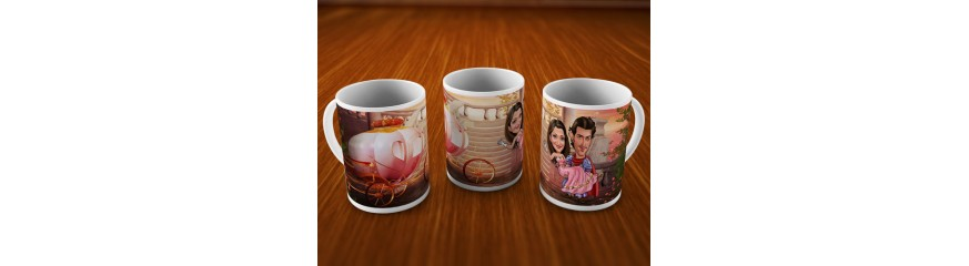 Caricature Mugs For Couples