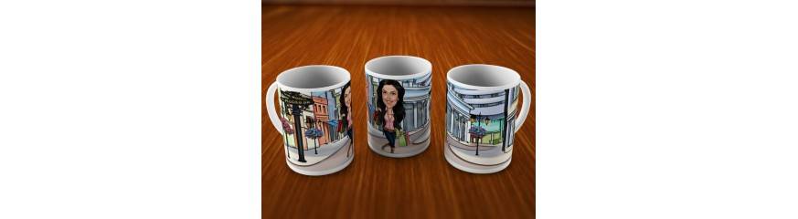 Caricature Mugs For Her