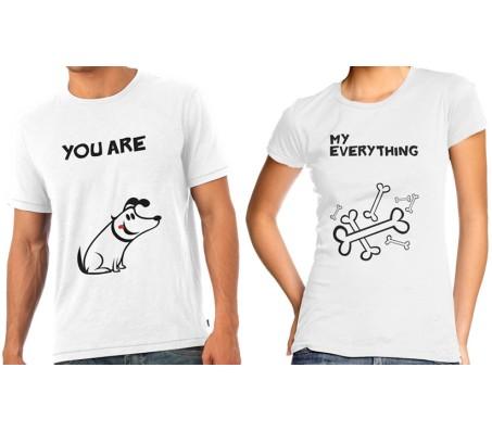 My Everything Couple T-Shirts Bone & Dog Design