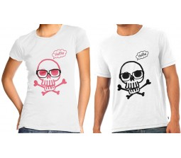 Couple T-Shirts With Skull Design