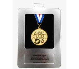Super Kisser Gold Medal For Valentine & Anniversary