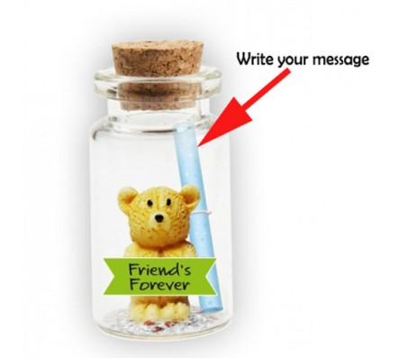 Message in A Bottle With Teddy & Friends Forever Cut
