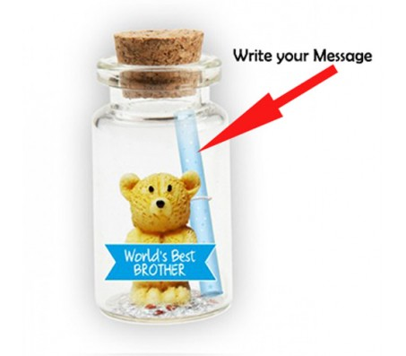 Message in A Bottle With Teddy & Worlds Best Brother Cut